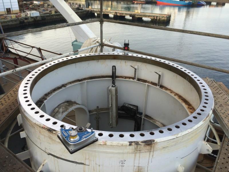 Mecanizado in situ buque Reforma Pemex